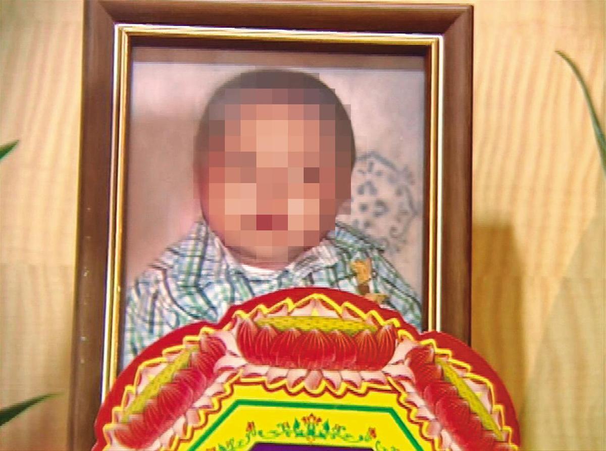 無辜的4個月大男嬰不幸慘死在生母手中。(東森新聞提供)