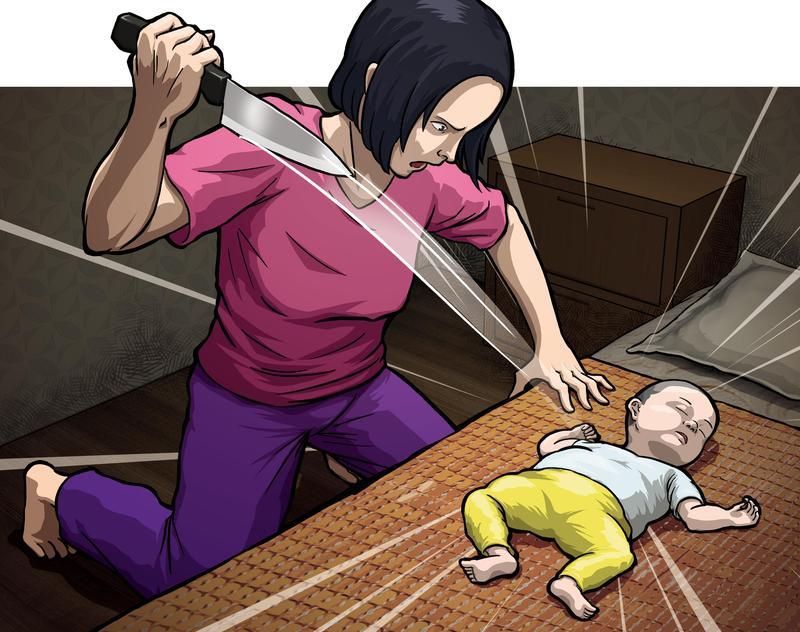 婦人不知兒子是丈夫還是情夫的種,竟狠刺兒子51刀斃命。(圖為示意畫面)