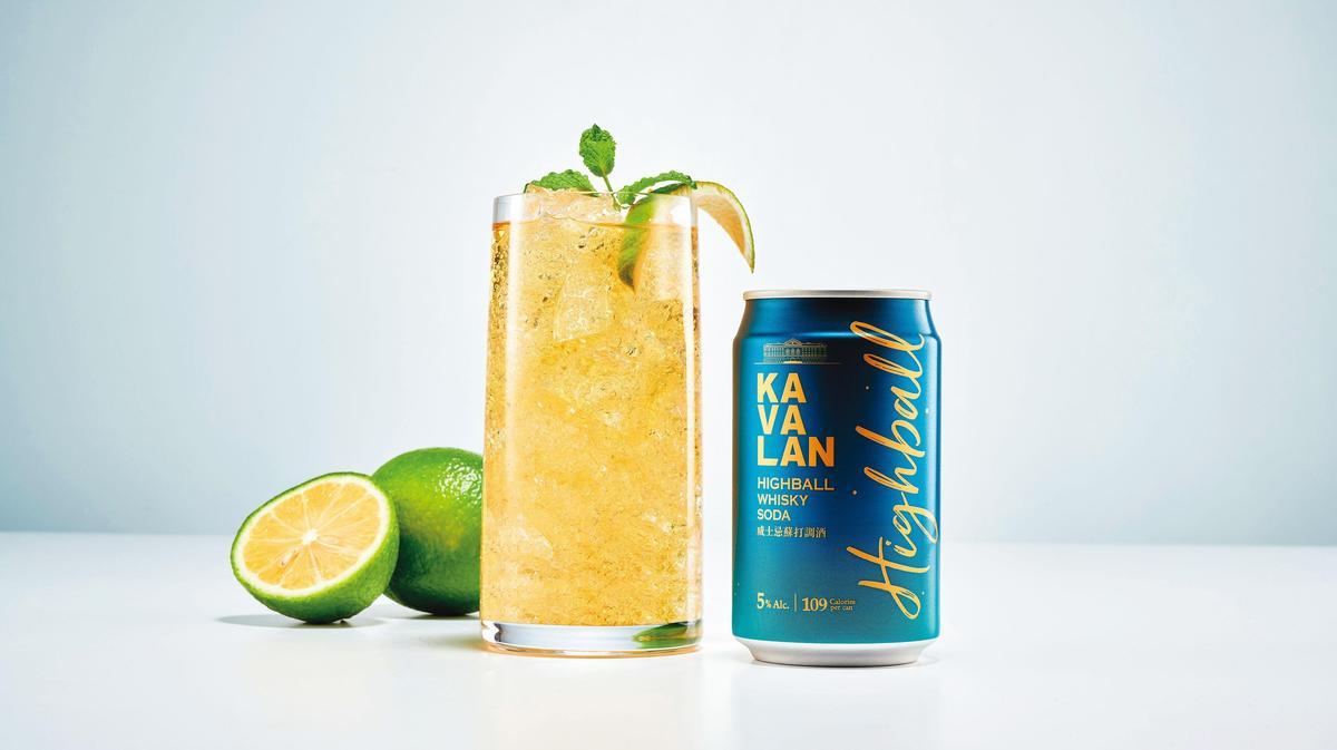 噶瑪蘭威士忌蘇打調酒,緩和濃烈口感同時鎖住香氣,酒精度5%。(建議售價:60元)