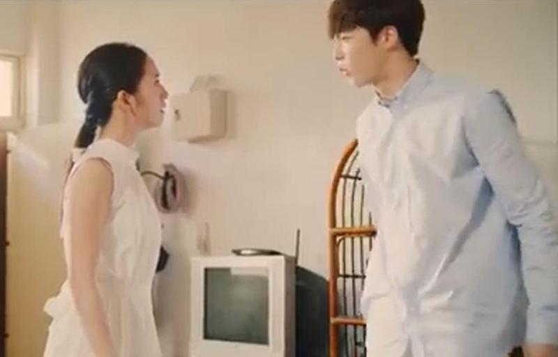 林依晨在〈溫柔時空〉MV中,演技大爆發,飾演陳立農的姐姐。(翻攝自youtube)