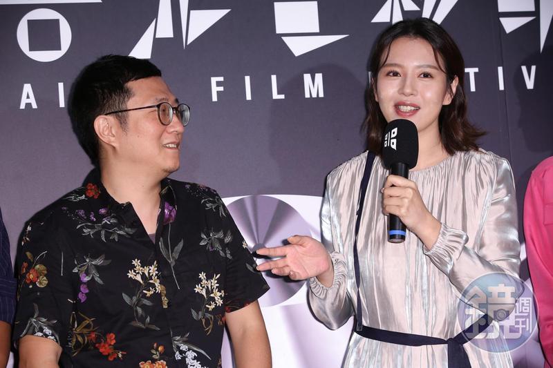 劉品言(右)、導演陳永錤(左),不光只是在劇情上挑戰觀眾道德底線,也考驗演員表演的底線。