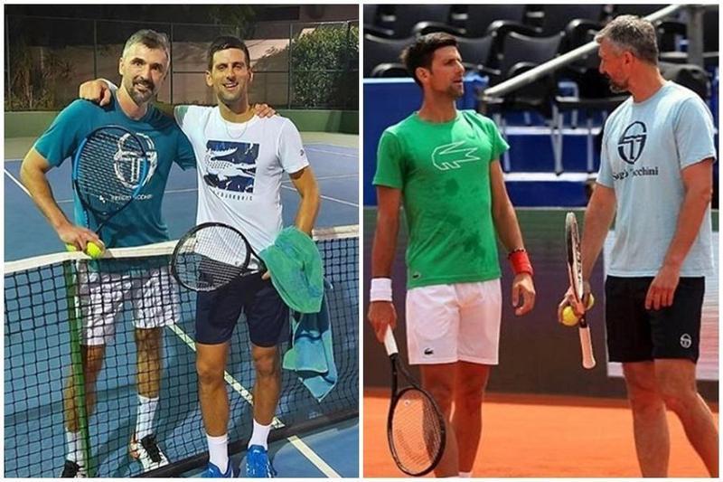 球王喬科維奇籌辦的網球巡迴賽又傳出一人中鏢,他的指導教練伊凡尼塞維奇(左圖左、右圖右)也確診感染武漢肺炎。(翻攝自goranivanisevicofficial Instagram)
