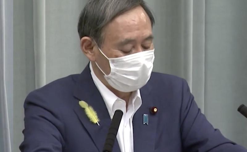 東京連續4天出現單日染疫人數超過50人,日本官房長官菅義偉則表示,目前不需再發布緊急事態宣言。(翻攝内閣広報室)