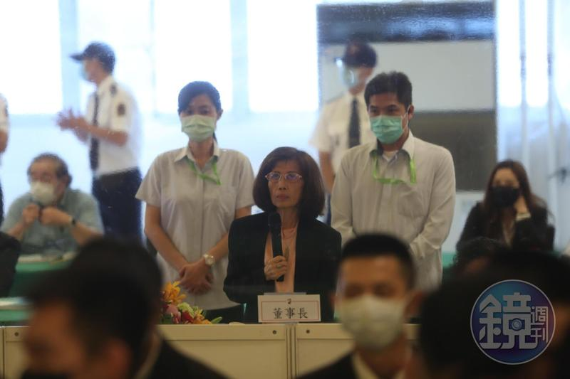 董事長林郭文艷強勢宣布,公司派提名的6席董事、3席獨董當選。