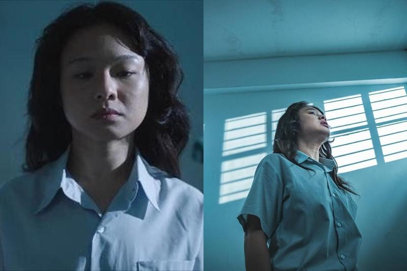 鄭慕岑飾演陳菊,不論外型和談吐都極為相似。(翻攝自《自由的向望》臉書、公視提供)