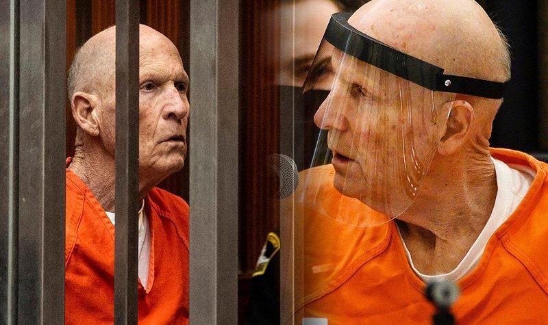 難以想像,這名身穿囚服的老人,就是在 40 年前犯下加州連環竊盜、性侵、殺人案的凶手。(翻攝 Daily Express Twitter)