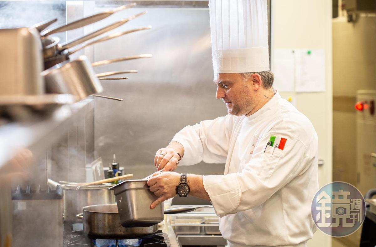 Massimo Picci擔任台北美福大飯店西餐總主廚,主掌館內義大利餐廳「GMT  Italian Restaurant」。