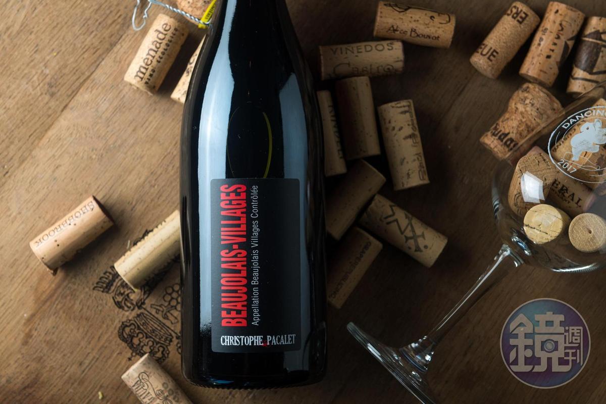 「Beaujolais Villages, Christoph Pacalet, 2018」是入門的村莊級酒款,甜美易飲。(750元/瓶,代理商:新生活)
