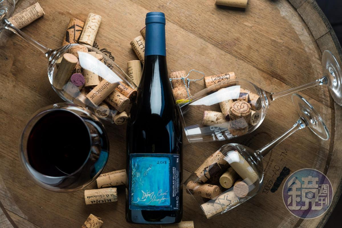 「Guy Breton Beaujolais-Villages Cuvee Marylou 2018」酒色淺,風格優雅輕柔。(1,000元/瓶,代理商:維納瑞)
