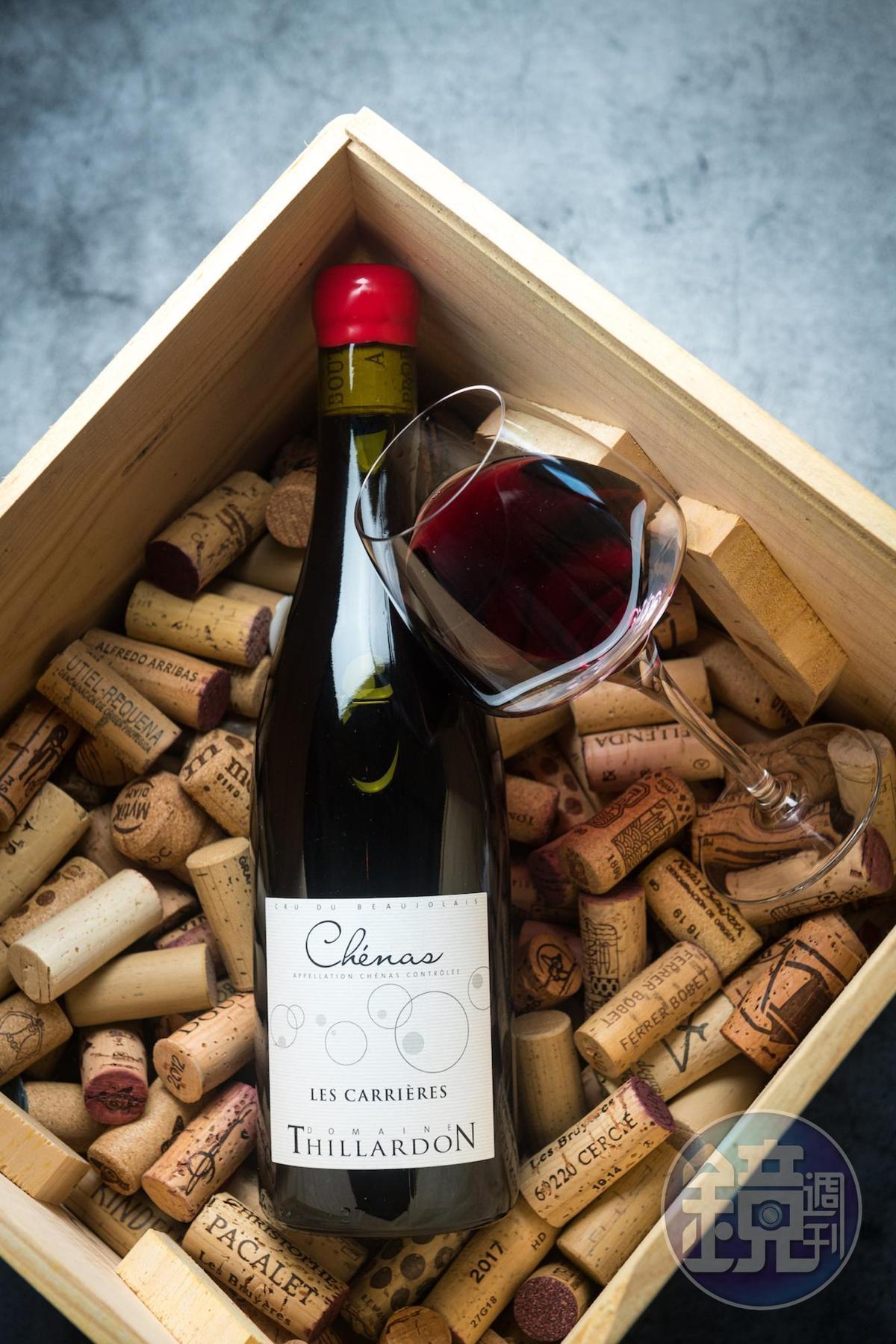 「Chénas Les Carrières' Domaine Thillardon 2018」是自然派薄酒萊的代表,鮮美可口。(1,200元/瓶,代理商:維納瑞)