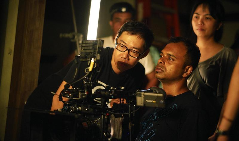 《夕霧花園》導演林書宇(左)認為大家應共同改善工作環境。(甲上提供)