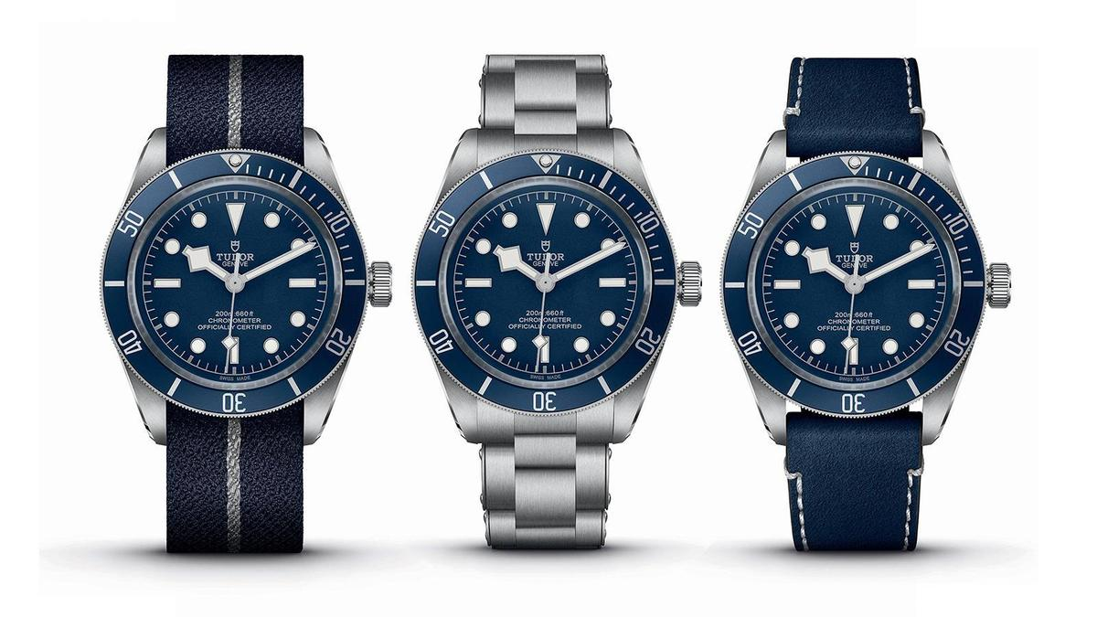 Black Bay Fifty-Eight Navy Blue | 錶徑39mm、不鏽鋼材質、時間指示、5402自動上鏈機芯、C.O.S.C.瑞士官方天文台認證、防水200米、建議售價約NT$106,500、鍊帶款約NT$116,500