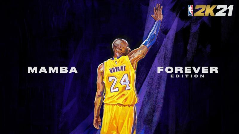 《NBA 2K21》公布了2款「永懷曼巴版」封面,圖為新世代主機(PS5、XBX)版本。(翻攝自NBA 2K Twitter)