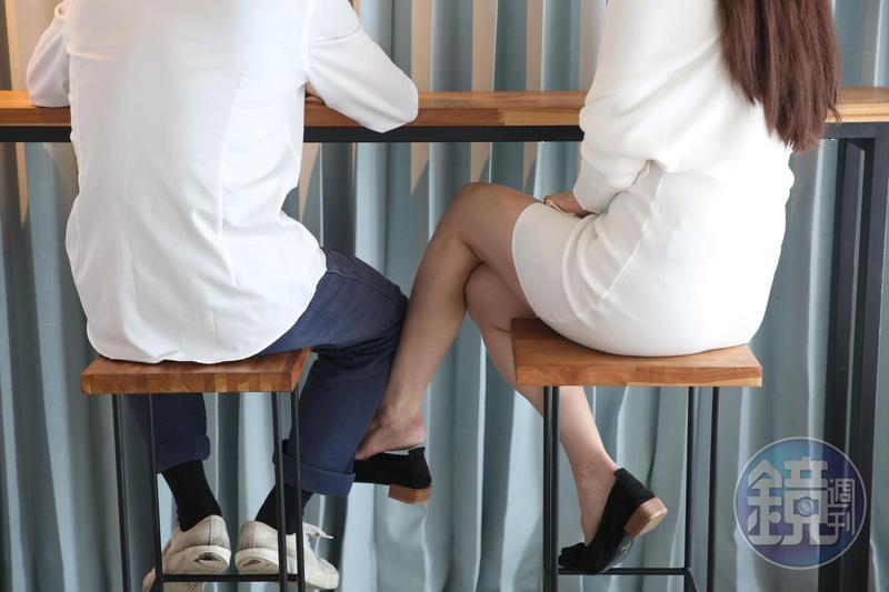 根據蒐證結果,黃姓醫師娘與4名男子交往、發生性行為。(右為日模心奈Cocona協力拍攝示意圖)