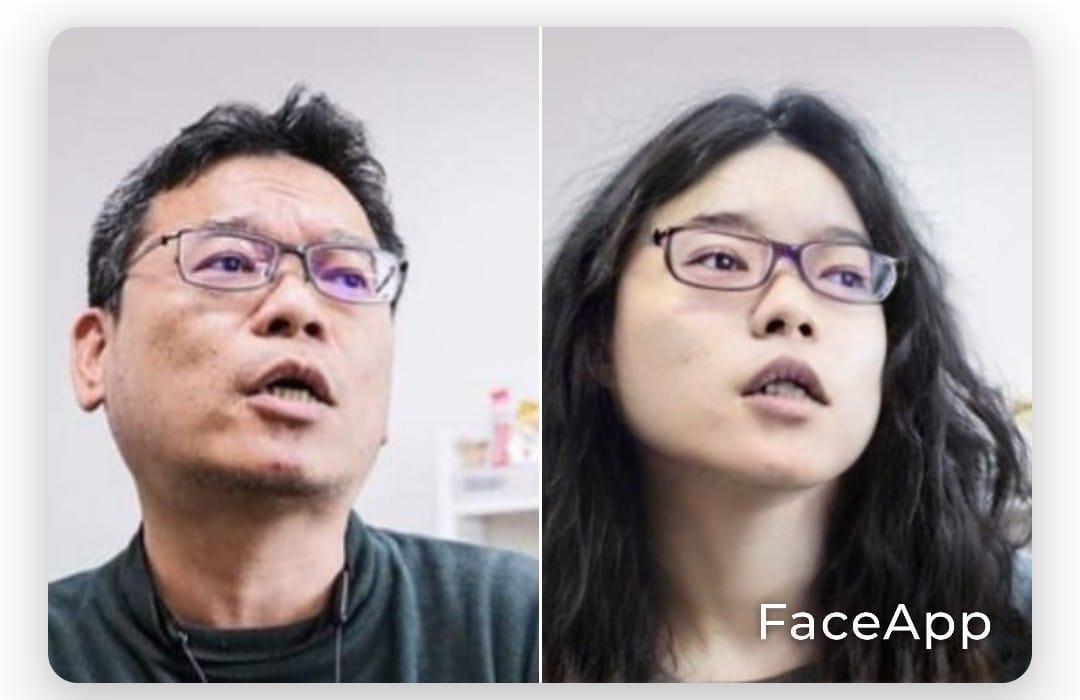 張益贍6月24日在個人臉書貼出變臉軟體照片。(翻攝自張益贍臉書)