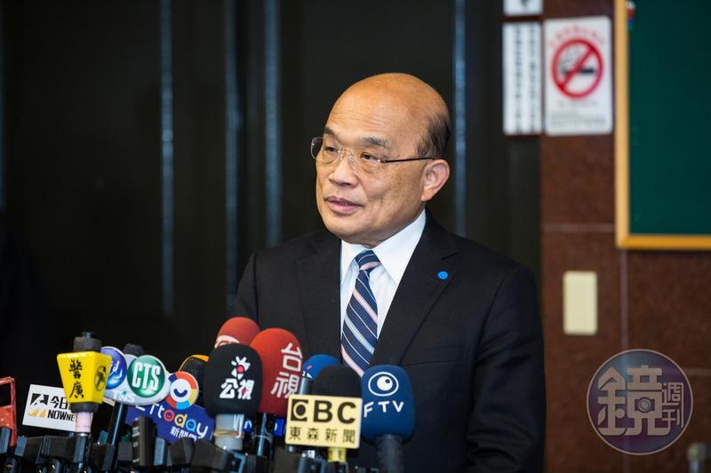 有媒體報導,限定東南衛視2名記者要在48小時內離境為行政院長蘇昌昌(圖)親自下令,文化部隨即發聲明澄清。