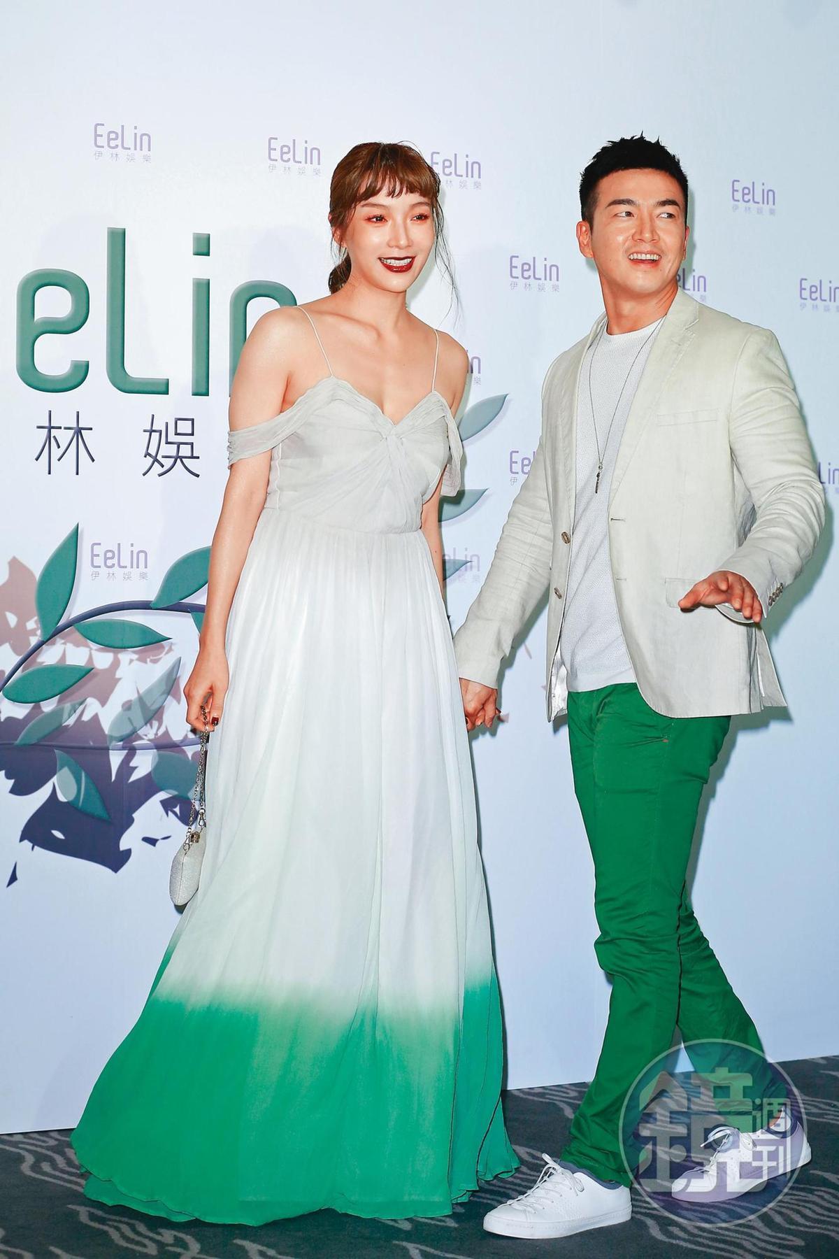 李沛旭和蔡淑臻(左)情牽8年,男方在今年伊林尾牙時,坦承已分手。