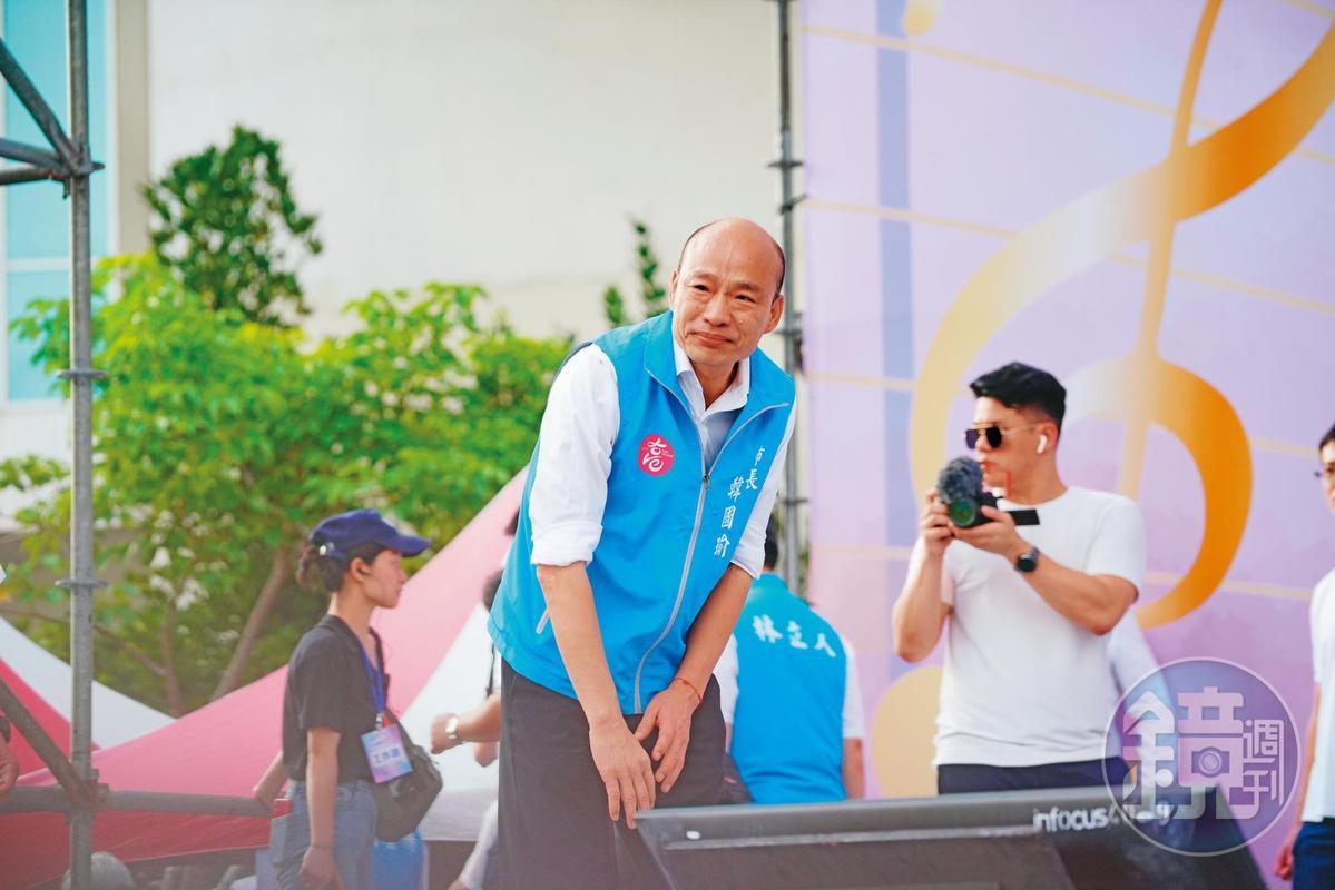 告別高雄市政府前夕,韓國瑜在鳳山舉辦最後一日造勢,上萬人到場力挺。