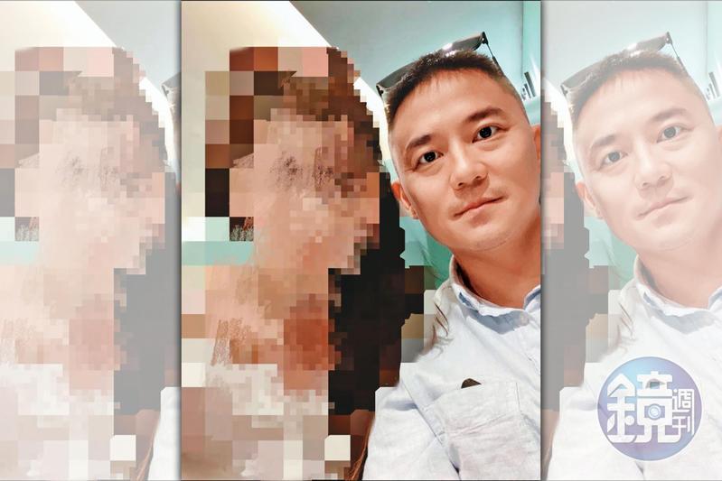 A小姐(左)的閨密指控朱康震(右)自稱單身,卻劈腿3女。(讀者提供)