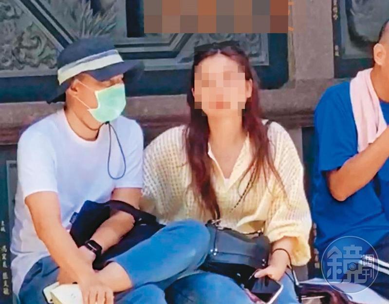 朱康震(左)常與正牌女友(右)約會出遊。(讀者提供)