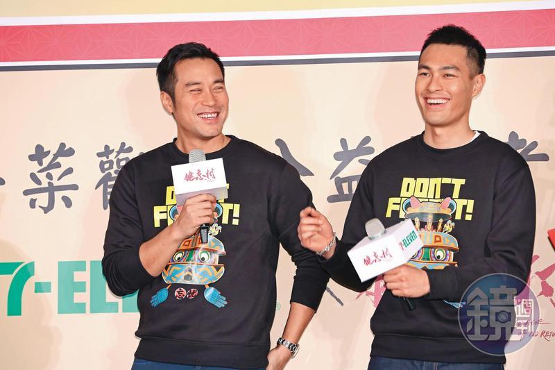 張孝全(左)2018年底率先當爹,好兄弟楊祐寧(右)終於在今年追隨上腳步,也將在年底升格奶爸。