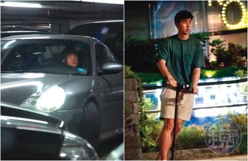 7月1日19:22,自己的保時捷被吳心緹開走,胡釋安僅能用電動滑板車代步,與吳心緹的座駕成了強烈對比。