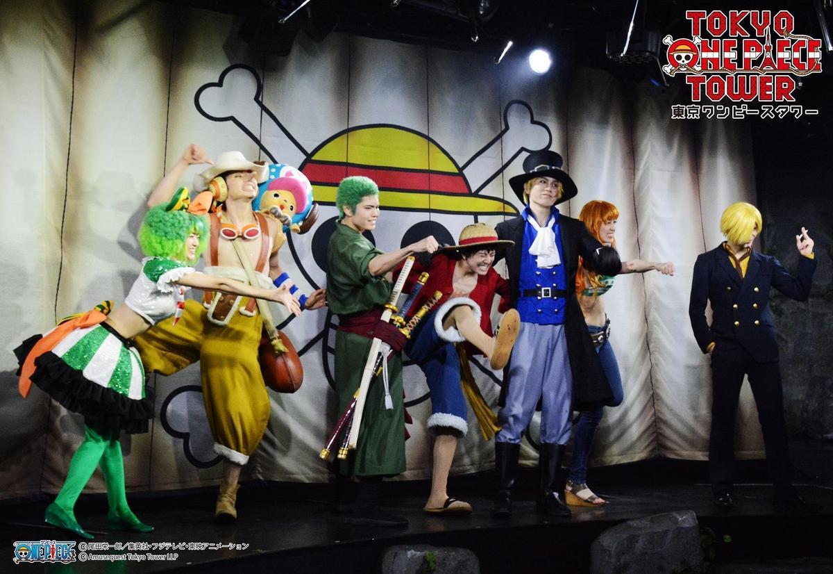 東京航海王塔定期演出的真人舞台劇照。(翻攝自東京ワンピースタワー FB)