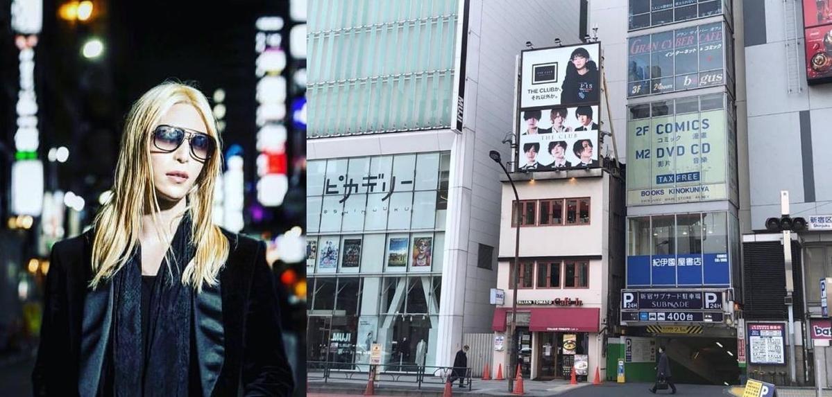 羅蘭去年在新宿開「THE CLUB」牛郎店。(翻攝羅蘭IG、THE CLUB IG)
