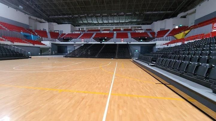 陳建州在臉書分享新竹職籃隊的主場照片。(翻攝自陳建州臉書)