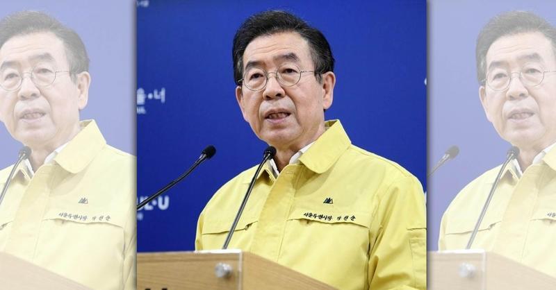 南韓首爾市長朴元淳(圖)遺體於今日凌晨被尋獲。(翻攝自朴元淳臉書)