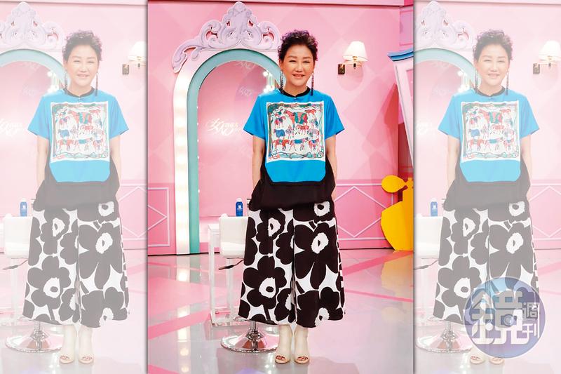 時尚教主藍心湄,主持《女人我最大》近17年,是許多國際精品的VIP大戶,卻穿著名牌的山寨服。(讀者提供)