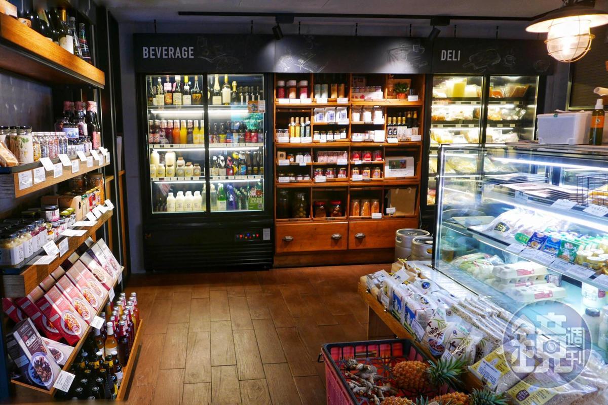 五方食藏位於青田街,除了能用餐也專賣國內外優質食材。