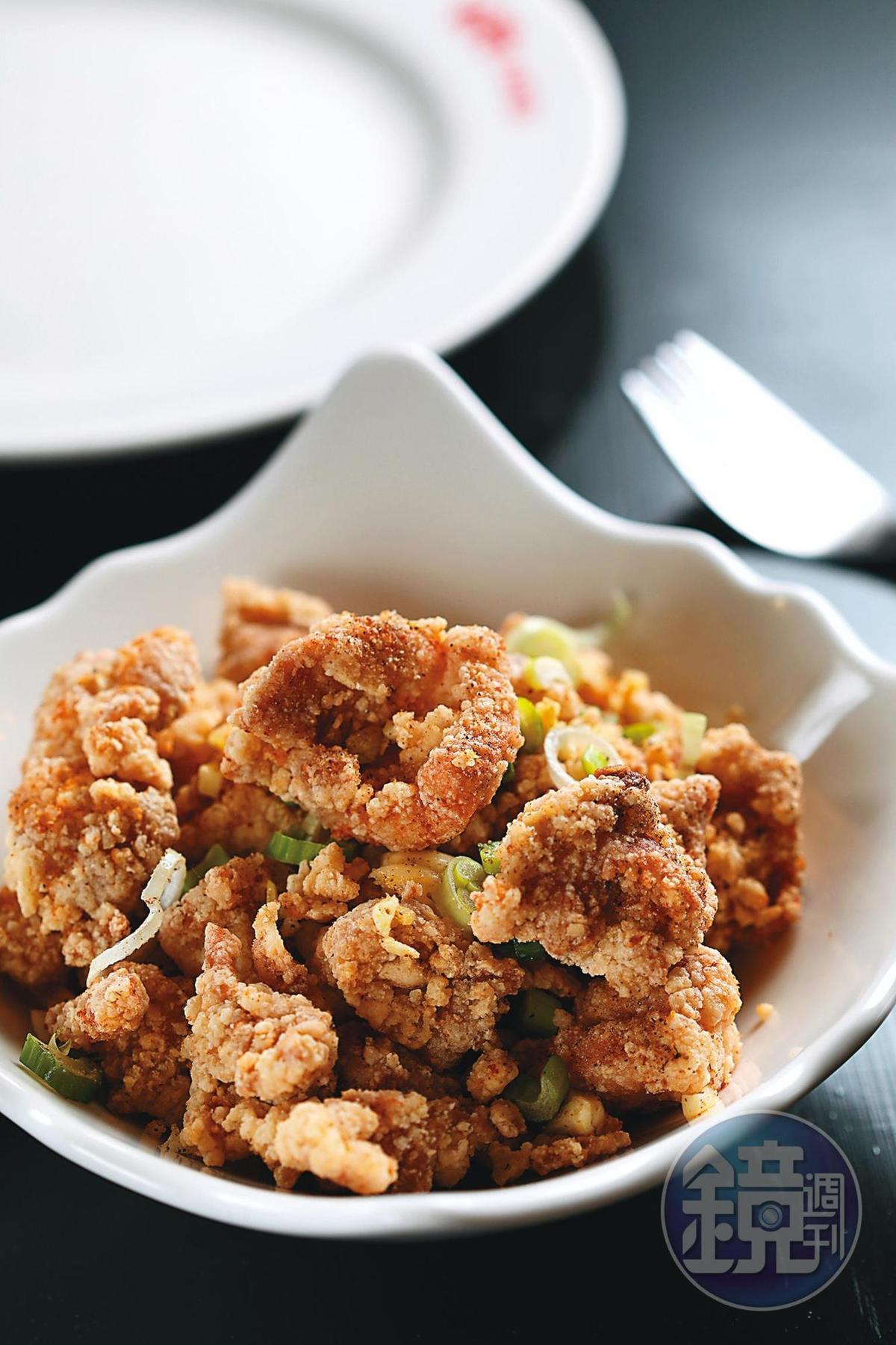 台灣家常口味的「鹹酥雞」。(1,680福林/大份,約NT$156、1,200福林/小份,約NT$111)
