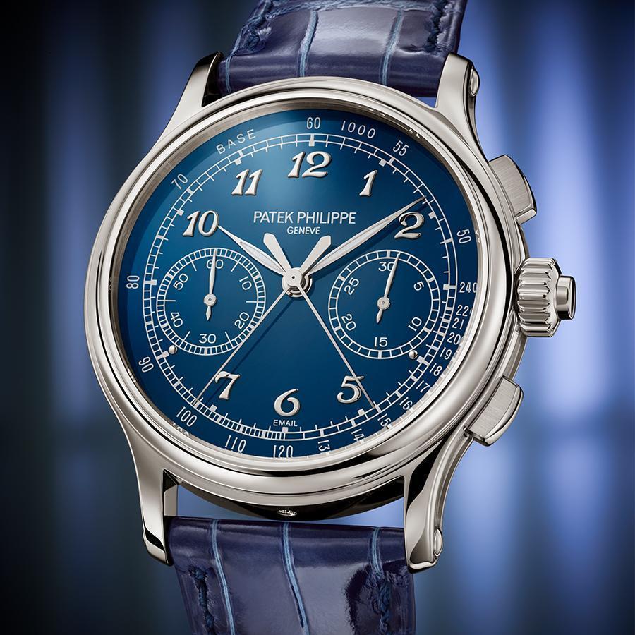 5370P-011雙追針計時碼錶|錶徑41mm、鉑金材質、CHR 29-535 PS手上鏈機芯、時間指示、雙追針計時碼錶功能、建議售價NT$ 8,004,000