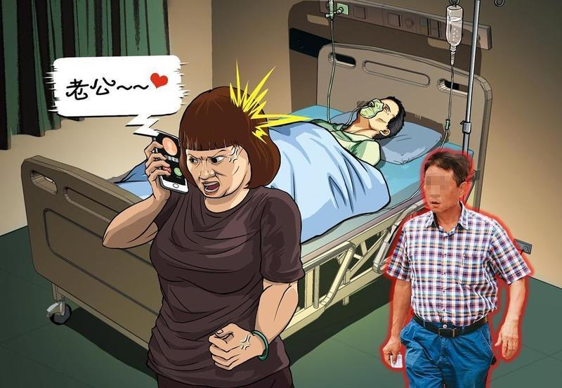 百億大亨張董(右圖)2010年心臟病發昏迷住院,妻子在醫院代接張董手機,竟聽到另一頭喊「老公」,張董外遇因此曝光。
