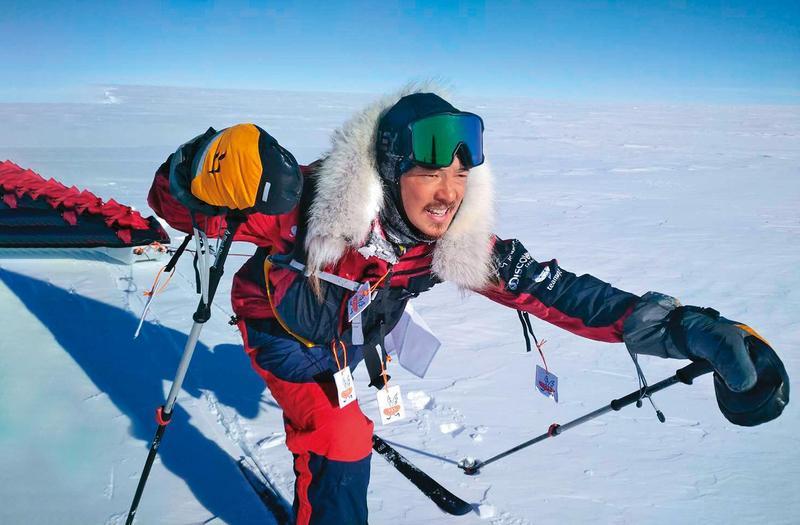 宥勝有冒險魂,前年曾參加南極遠征隊,體驗極地之旅。(橘子關懷基金會提供)