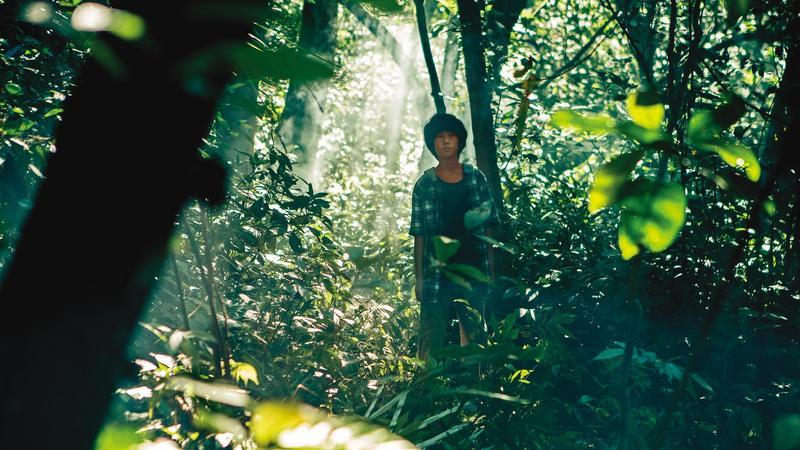 高於夏飾演在鄉野長大的小男孩,感受自然萬物的生命力,影片也以空靈的影像反映人物心境。(好威映象提供)