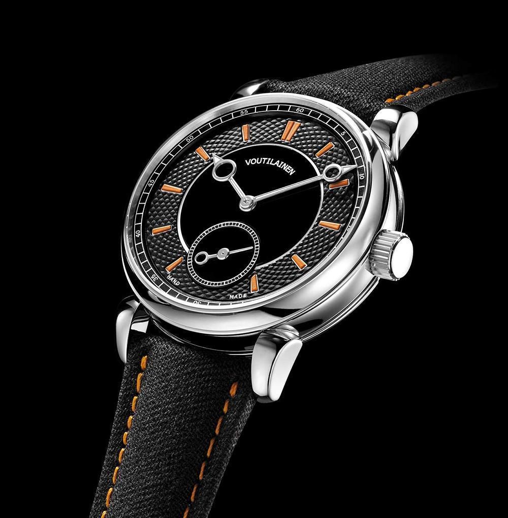 Kari Voutilainen 28Sport算是品牌首度嘗試的運動風格腕錶,在刻度與錶帶縫線用上橘色,營造出動感風格。