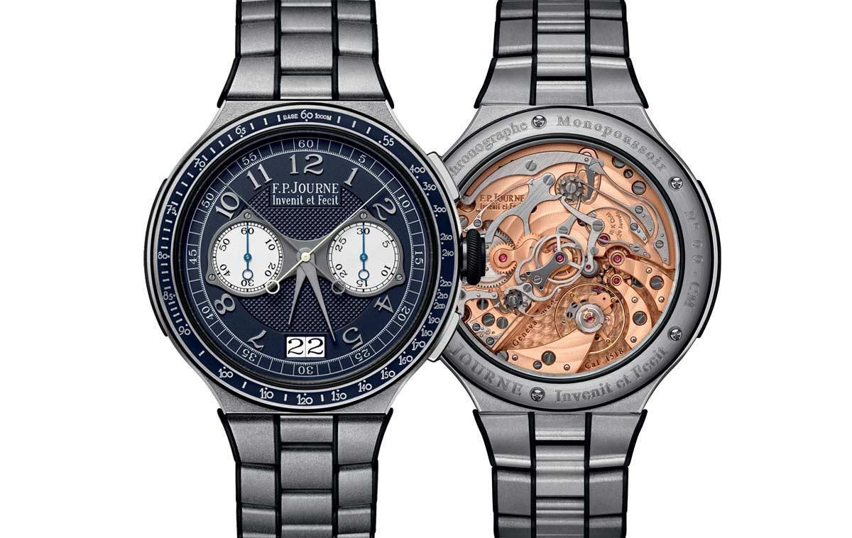 Chronographe Rattrapante雙追針計時碼錶推出鏈帶版本,且面盤顏色有更多選擇。