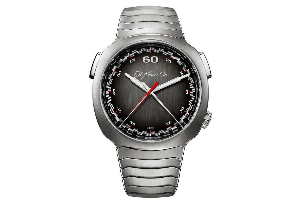 Streamliner飛返計時碼錶簡潔的面盤佈局,很難想像它是一款計時碼錶。限量100只,定價NT$1,360,000。 。