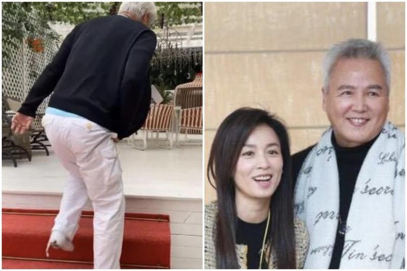 林瑞陽日前行走不便的影片在網上瘋傳,與他之前氣色紅潤的樣子形成對比。(翻攝自微博)