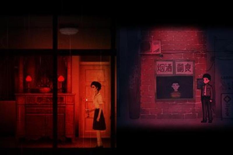 《煙火》(右)與《返校》在遊戲畫面的風格上相當類似。(翻攝Steam)