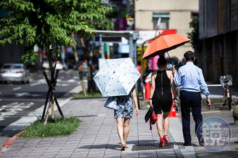 今、明兩日台灣各地及澎湖、金門、馬祖大多為多雲到晴且高溫炎熱。