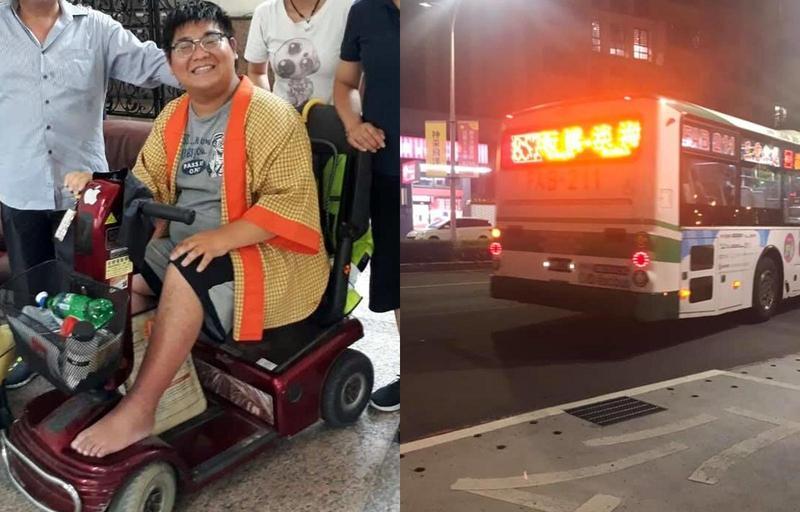 漸凍人胡庭碩被公車司機拒載,新北市交通局查證屬實開罰業者。(翻攝自胡庭碩臉書)