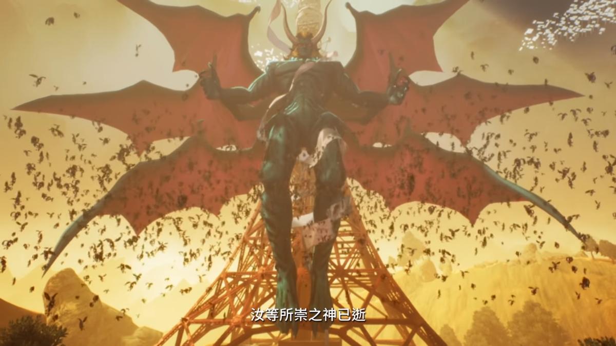 女神轉生系列融入許多宗教、神魔的概念,《真.女神轉生V》的宣傳片段,一開始就由惡魔宣布神已死亡。(翻攝自SEGAasia YouTube)