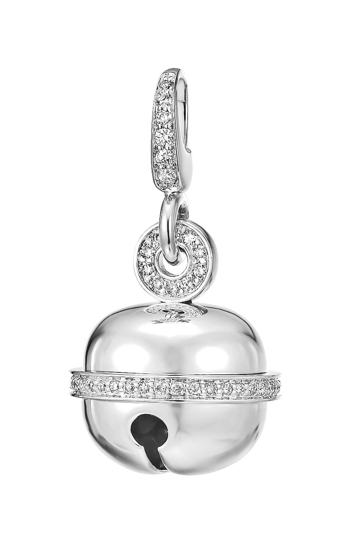 Qeelin Ling Long 18K白金鑲鑽中型鈴鐺,NT$108,000。(Qeelin提供)