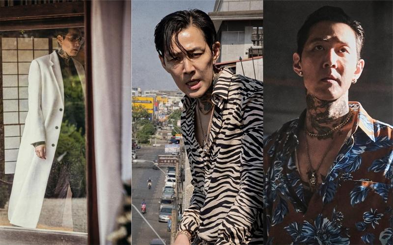 李政宰在新片《魔鬼對決》變換白大衣、斑馬紋襯衫、花襯衫等多種造型,展現角色的強烈性格。(采昌提供)