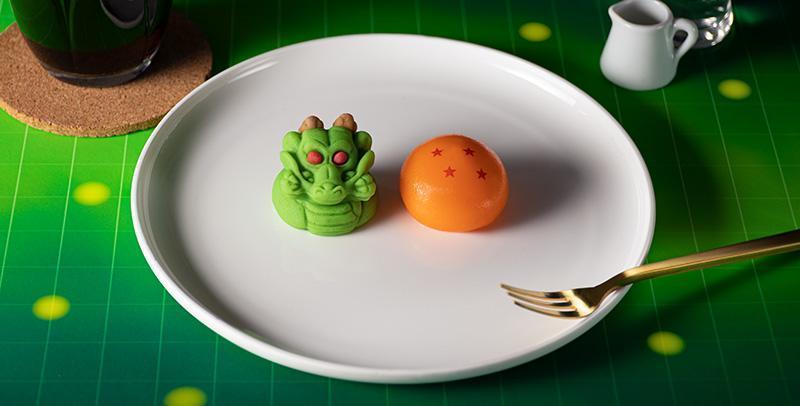 日本萬代與日本FamilyMart合作,將出龍珠與神龍的甜點。(翻攝「BANDAI CANDY」官網)