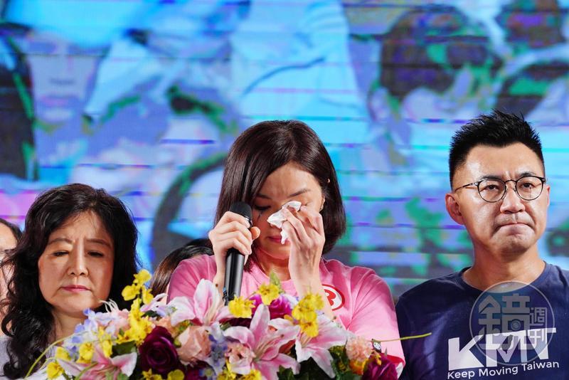 李眉蓁提及自己的論文再度落淚。(翻攝自國民黨臉書)