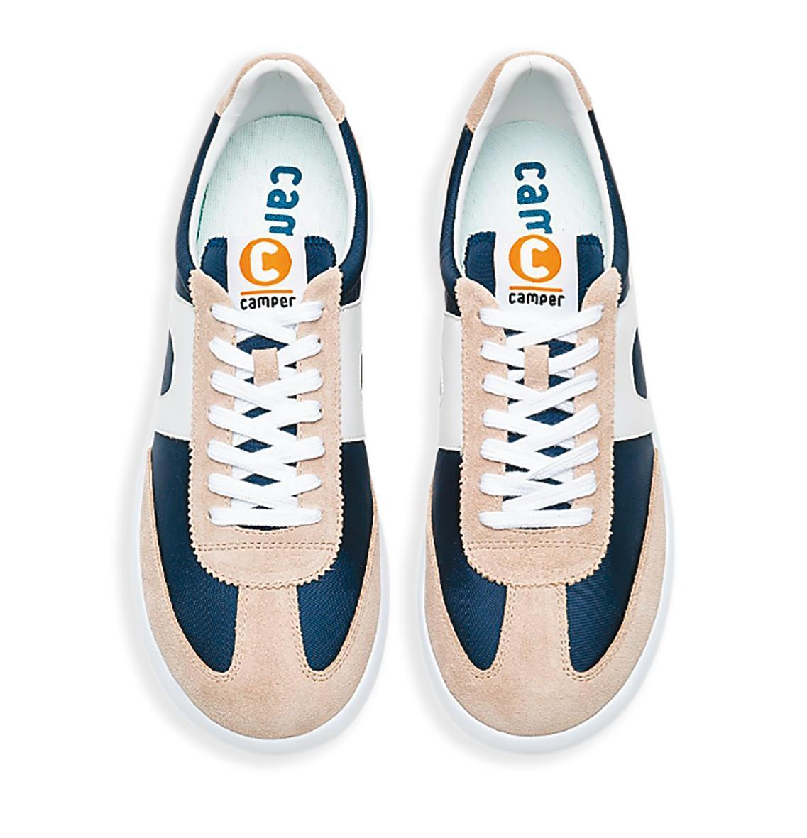 AMPER Pelotas XLF藍白棕配色休閒鞋。NT$5,580(團團提供)